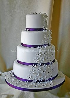 Wedding Cake. Simple but cute! And it's purple!!!