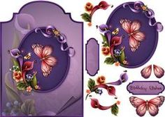 Lily Delight Shaped Card Front With Step By Step
