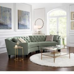 Luxury Sofa For Small Living Room.Lounging With Style: Create The Perfect Living Room. White Sofa Design Ideas Pictures For Living Room. Living Room Without Sofa, New Living Room, Formal Living Rooms, Living Room Sofa, Living Room Furniture, Modern Living, Small Living, Curved Couch, Curved Sectional