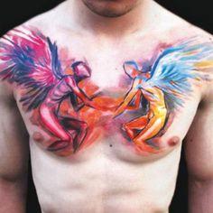 Watercolor Tattoo Designs For Men