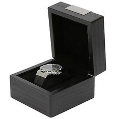 Engravable Single Watch Box 1 Extra Large Watch Black Wood Finish in Jewelry & Watches,Watches,Boxes, Cases & Watch Winders | eBay