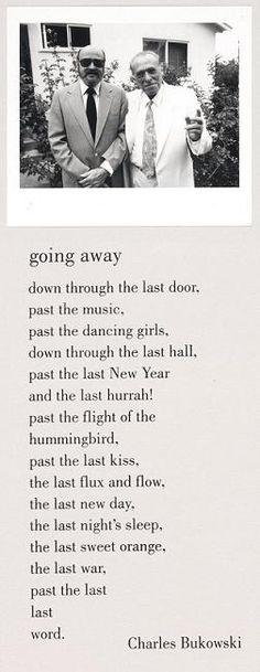 Going Away by Charles Bukowski