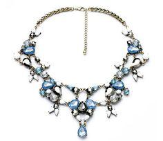 Girl Intuitive - Ice Jewels Silver Bib