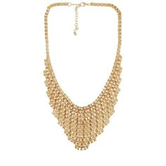 PPB Statement Chain Necklace (3.720 CZK) ❤ liked on Polyvore featuring jewelry, necklaces, accessories, colares, collares, chain necklace, wrap necklace, collar jewelry, collar necklace and chain jewelry