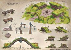 Tagged with gaming, dnd, homebrew, tabletop games, dungeons and dragons; Another round of D&D! Fantasy Town, Fantasy Map, Fantasy World, Environment Concept Art, Environment Design, Rpg Map, Dungeon Maps, Fantasy Places, Fantasy Landscape