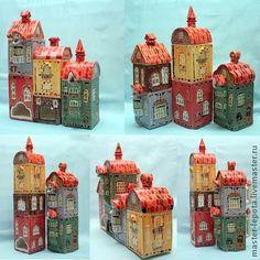 """Сервизы, чайные пары ручной работы. Ярмарка Мастеров - ручная работа Чайный сервиз """"Старый город"""". Handmade."""