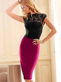 I believe every woman should own a well fitted pencil skirt. I think I need one in pink.