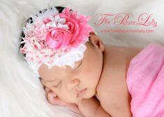 dark pink apples and white Shabby Headband by SallyAnnaSunshines