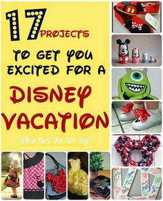 17 Projects to Get You Excited for a Disney Vacation from whatdoesthecoxsay.com