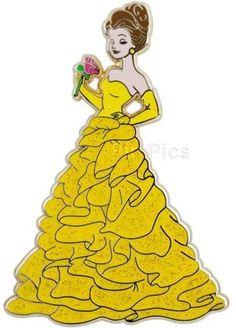 Pin Pics Pin 85997: Disney Store - Disney Princess Designer Collection Set (Belle only)