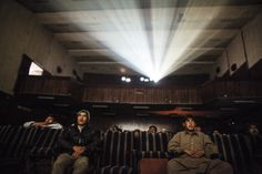 Moviegoers watch a Pakistani film at Pamir Cinema, in Kabul's old city, November, 2010.  - Jonathan Saruk