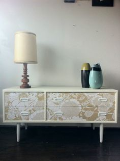 retro alrob sideboard/ chest of drawers vintage 70's wallpaper