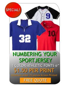 Numbering Sport Jersey