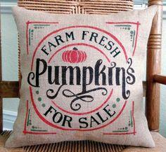 Fall pillows farmhouse Halloween decor Pumpkin pillow Pumpkins for sale Halloween pillow burlap pill Pumpkin Pillows, Fall Pillows, Throw Pillows, Stenciled Pillows, Burlap Pillows, Pumpkins For Sale, Farmhouse Halloween, Halloween Pillows, Welcome Fall