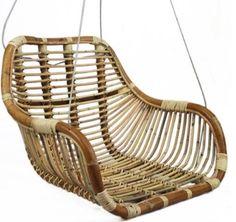 Závesná ratanová hojdačka Am Pm La Redoute, Cable Acier, Deco Table, Porch Swing, Outdoor Furniture, Outdoor Decor, Hanging Chair, Basket, Desk