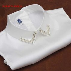 New Women Peter Pan Detachable Fake Collar Apparel Accessories Strap Can Be Adjusted White False Collar For Shirts _ - AliExpress Mobile Version - Kurti Neck Designs, Kurti Designs Party Wear, Dress Neck Designs, Collar Designs, Blouse Designs, Diy Fashion, Ideias Fashion, Fashion Outfits, Womens Fashion
