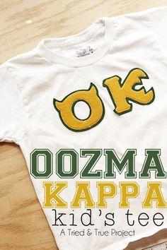 Make a Monsters University Oozma Kappa T-shirt! OOZMA KAPPA T-SHIRT, by VANESSA BRADY on 8 JULY 2013