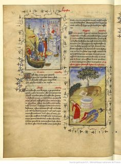 L'Epistre Othea à Hector, fol Book Of Hours, Blessed Virgin Mary, Bnf, Old Books, Illuminated Manuscript, Ancient History, Miniatures, Lettering, Navi
