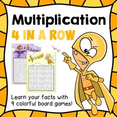 """Dollar Deal for 48 hrs. Multiplication games """"4 in a row"""""""