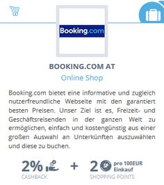 booking.com #Lyoness Partner für #Cashback und Shopping Points | Geld zurück bei jedem Einkauf