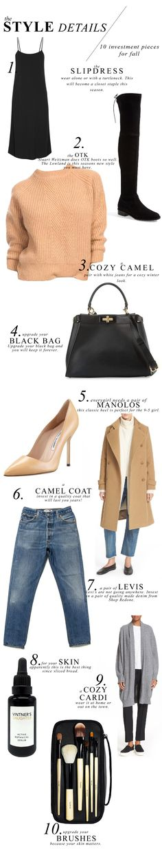 Style Details: 10 Investment Pieces for Fall