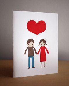 boy girl big heart by fugufugupress on Etsy, $5.00