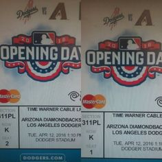 THINK BLUE: #OPENNING DAY 2016 TICKETS @CHAVEZ RAVINE  #DODGERSTADUIM#TUESDAYAPRIL 122016 GOT MINE! YOU GET YOURS. HERE WE COME IF UR A TRUE DODGER FAN U WILL BE THERE... #NLWESTCHAMPIONS#3XBACK2BACK2BACK by joselg_73_raider4life