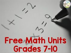 2 Peas and a Dog: Free math units to support middle and secondary math programs.