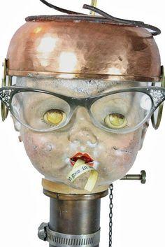 Found Object Art Doll by Rachel Birdsell