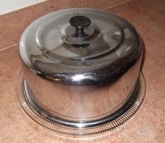 Vintage Cake Saver / Chrome and Glass Cake by SusieSellsVintage, $25.00