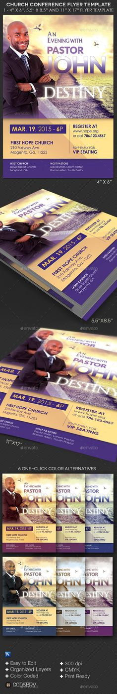 Pastor Appreciation Flyer Invitation Psd templates, Pastor and - conference flyer template