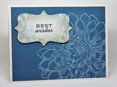 Another cool Jumbo Dahlia - love how it's a bkground behind the sentiment too - card by Veronica