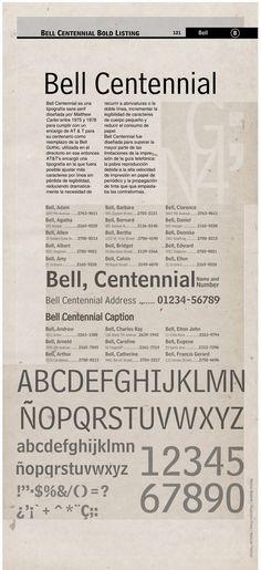 Bell centennial designed by matthew carter