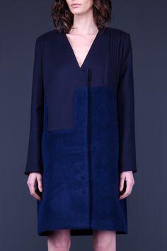 Комбинированное синие пальто MARCHI