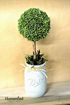 DIY Spring Topiary Trees are the cutest!! www.homeroad.net
