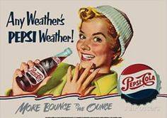 Pepsi Cola Any Weather Tin Sign at AllPosters.com