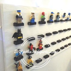 DIY, jak zrobic polke na figurki lego, lego polka Lego, Diy, Legos, Bricolage, Do It Yourself, Fai Da Te, Diys