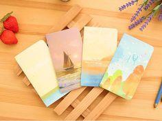 4 шт./лот милый океан дизайн ноутбуки для девочек мини персональный тетради портативный блокнот журнал дневник школа питания купить на AliExpress