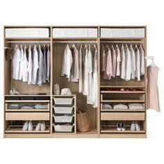 Kleiderschrank ikea pax  Wardrobe Goals: Tips For A Stylish Closet | Hanging rail, Simple ...