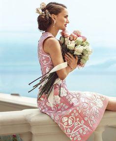 Natalie Portman in Dolce and Gabbana, photo by Norman Jean Roy, Harper's Bazaar US, 2015