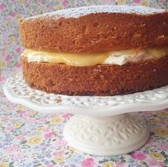 Mary Berry's Lemon Victoria Sandwich is one of my favourite cakes to make - so simple and even more delicious with homemade lemon curd. Yum!