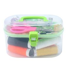 Pink Sewing Craft Accessories 19 x 8cm Hemline Jumbo Deluxe Sewing Kit