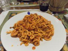 Gramigna con salsiccia, Emilia-Romagna