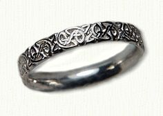 Celtic Triangle Knot Wedding Band with Straight Edges - ( We make this ring in sterling silver, 14kt yellow, white, rose, green, palladium and platinum) - email us for more information. designet@raru.com