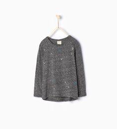 ZARA - KINDER - T-Shirt mit glänzenden Steinen