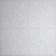 Global Specialty Products Dimensions 2 ft. x 2 ft. White Tin Ceiling Tile for Refacing in T-Grid Systems-309-10 at The Home Depot