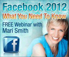 Mari Smith is gonna school us in Facebook marketing on this webinar!