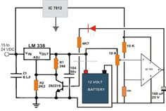 The post explains a 6v, 12v 24v lead acid battery charger circuit which could be used for charging a 6v, 12v, or even a 24 volt battery