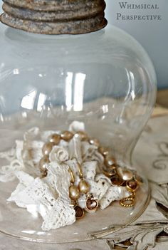 Whimsical Perspective: An Accidental Beauty: DIY Cloche - simple and sweet cloche idea