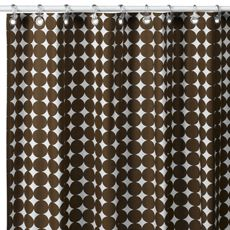 "DwellStudio™ Chocolate Dots 72"" x 72"" Fabric Shower Curtain - MfrID: B1320-25-21 from Buy Buy Baby"